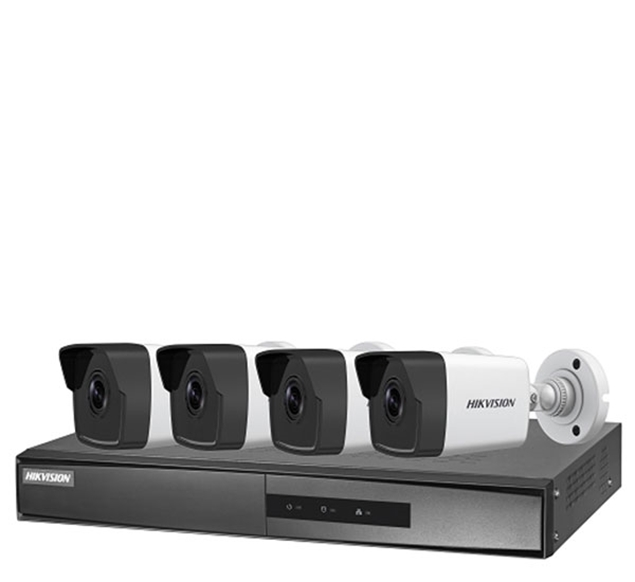 Picture of NK42E0H-1T(WD) 2,8mm 4CH 2MP PoE NVR+ 4 Bullet Cameras