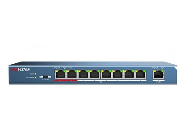 Picture of DS-3E0109P-E(C) 8Channel Hikvision POE switch